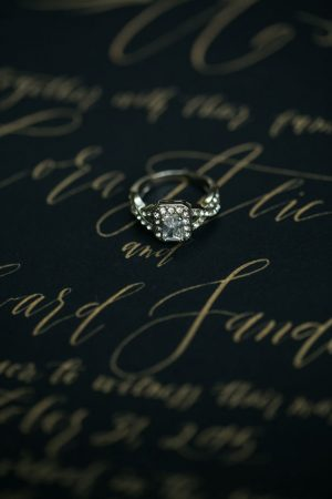 Wedding diamond ring - Sweet Blooms Photography