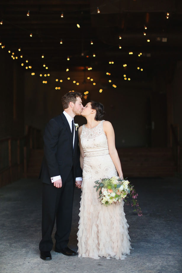 Wedding kiss picture - j.woodbery photography