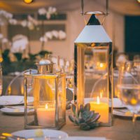 Wedding table candels - Kane and Social