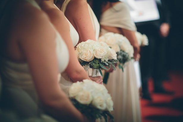 White bridesmaid bouquets - Kane and Social