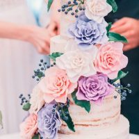 Romantic Floral Wedding Cake - via Caramel Wedding