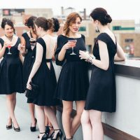 Black bridesmaid dresses - Elvira Kalviste Photography