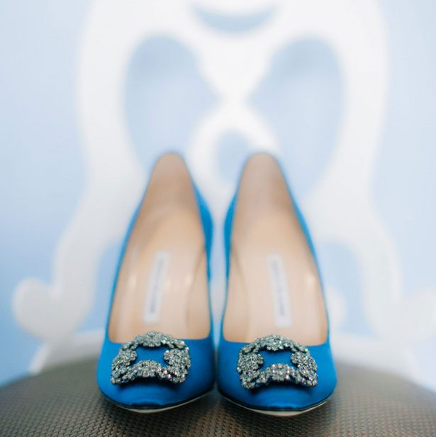 Blue wedding heels - Clane Gessel Photography