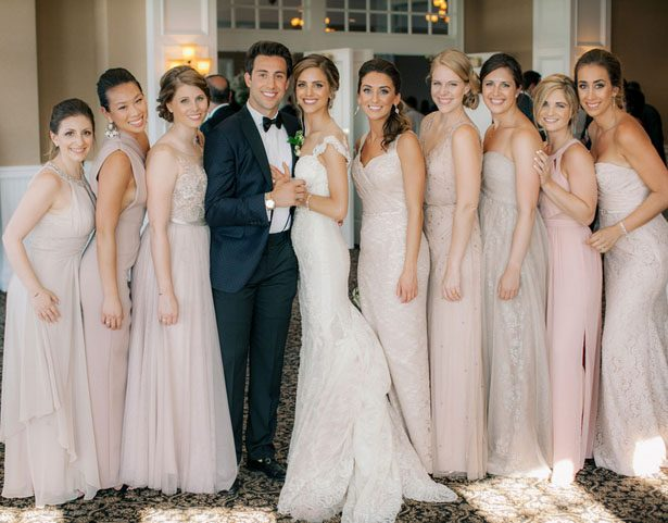 Bridesmaid long dresses - Clane Gessel Photography