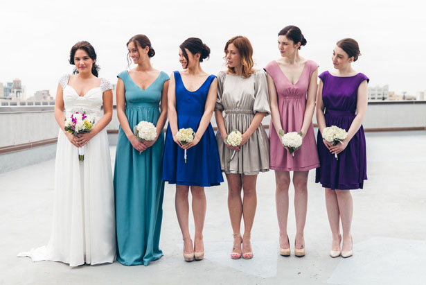 Mismatched Bridesmaid Dresses - Elvira Kalviste Photography