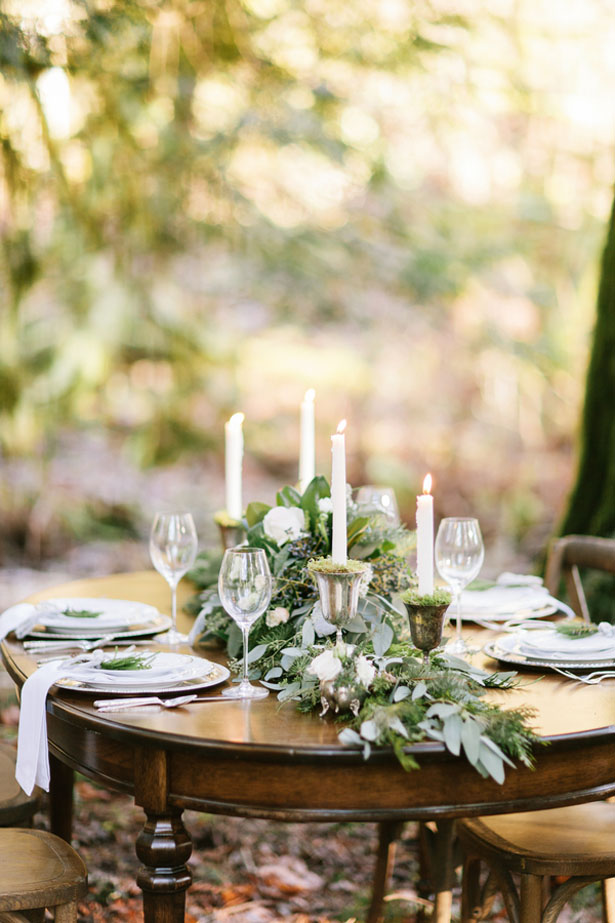 Classic wedding table setting - Jennifer Fujikawa Photography