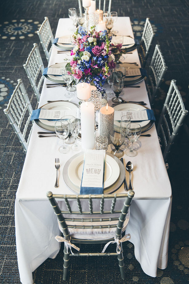 Silver wedding Tablescape - Elvira Kalviste Photography