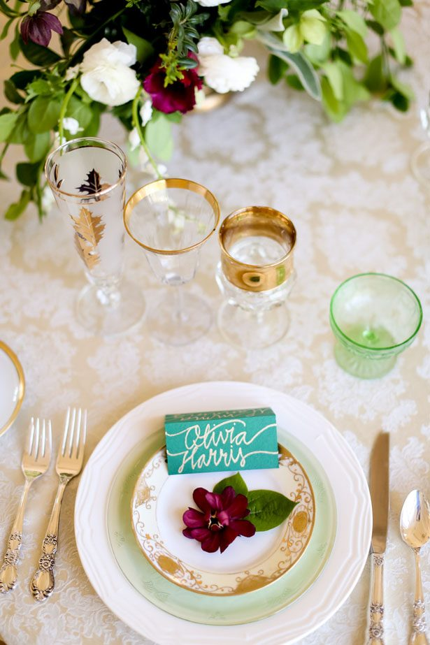 Elegant table wedding setting - Sarah Goodwin Photography