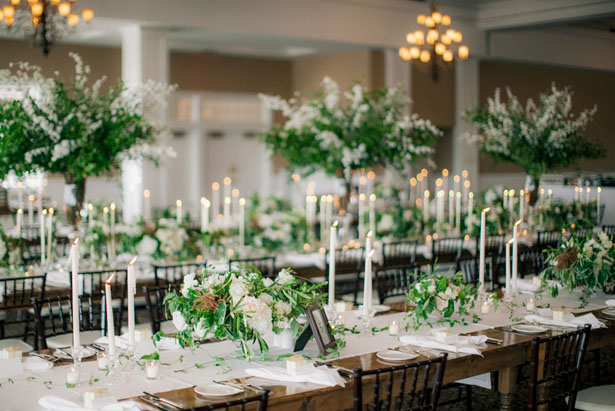 Elegant wedding centerpiece - Clane Gessel Photography