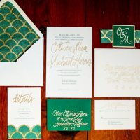 Elegant wedding invitations - Sarah Goodwin Photography