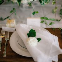 Elegant wedding table setting - Clane Gessel Photography