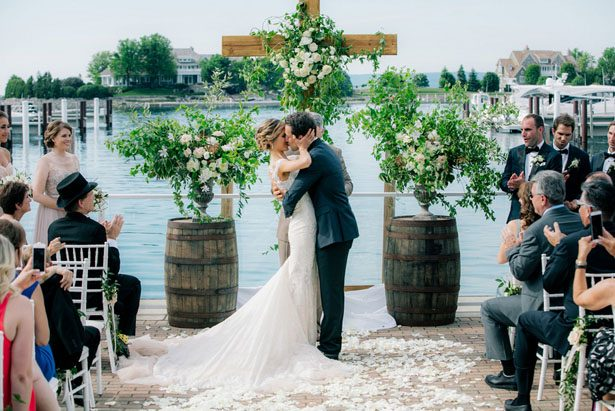 First wedding kiss - Clane Gessel Photography