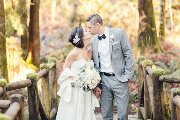 First wedding kiss - Jennifer Fujikawa Photography
