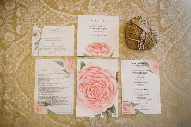 Floral wedding invitations - OLLI STUDIO