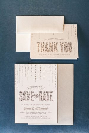 silver wedding invitations - Elvira Kalviste Photography