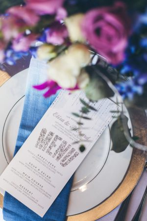 Watercolor wedding menu - Elvira Kalviste Photography