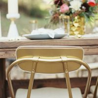 Gold wedding chair - Sharon Nicole Photography