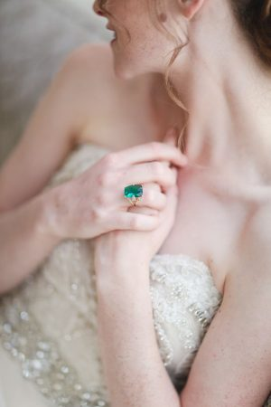 Emerald wedding ring - Sarah Goodwin Photography