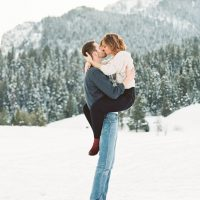 Inspiring winter engagement photo - Mallory Renee Photography