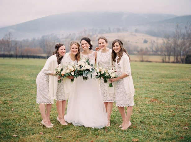 Lace bridesmaid dresses - Shandi Wallace Photography
