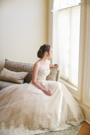 Lace wedding dress - Sarah Goodwin Photography