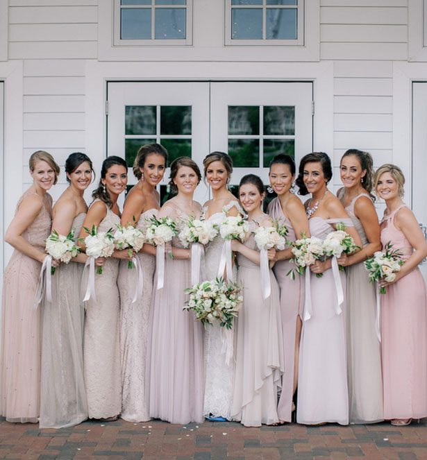 Long bridesmaid dresses - Clane Gessel Photography