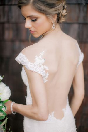 Low back wedding dress - Clane Gessel Photography