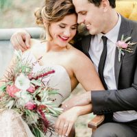 Modern bride and groom - Sharon Nicole Photography