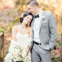 Outdoor bride and groom picture - Jennifer Fujikawa Photography