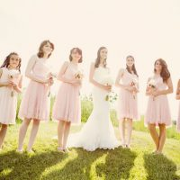 Pink bridesmaid dresses - Skyryder Photography, LLC