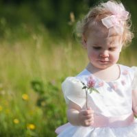 Pink flower girl dress - Skyryder Photography, LLC