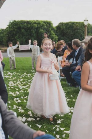 Pink flower girl dress - Studio De Jonge