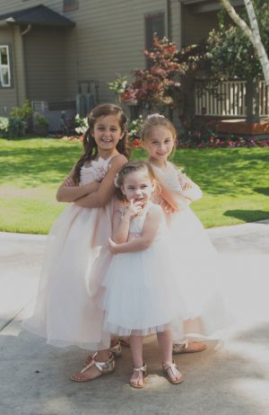 Pink flower girl dresses - Studio De Jonge