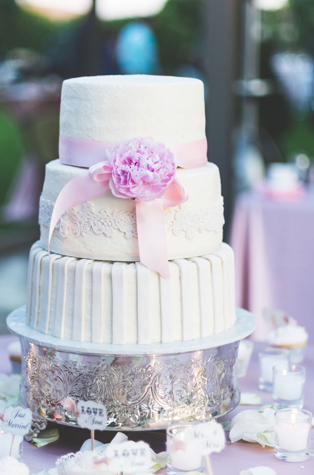 Pink wedding cake - Studio De Jonge