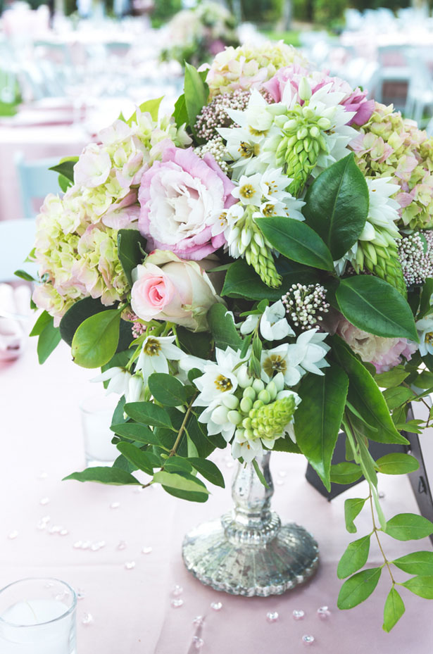 Pink wedding centerpiece - Studio De Jonge