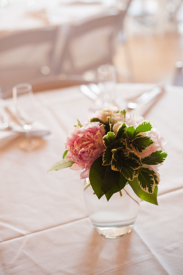 Pink wedding centerpiece - Skyryder Photography, LLC