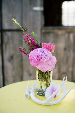 Pink wedding centerpiece - Jenna Leigh Wedding Photography
