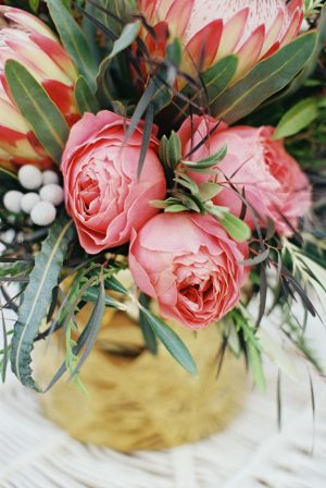 Pink wedding centerpiece - Sharon Nicole Photography