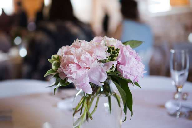Pink wedding centerpieces - Skyryder Photography, LLC