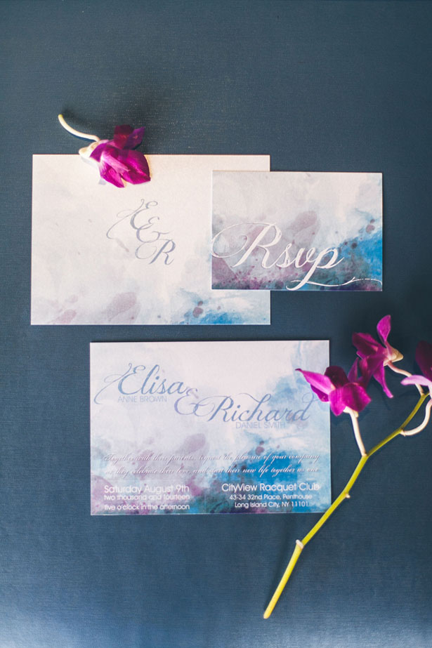 Watercolor wedding invitations - Elvira Kalviste Photography