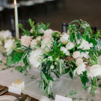 Short wedding centerpiece - Clane Gessel Photography