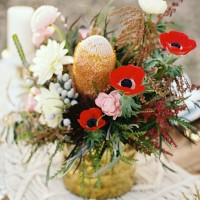 Short wedding centerpiece - Sharon Nicole Photography