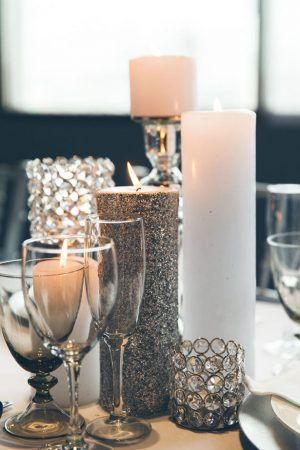 Silver wedding centerpiece - Elvira Kalviste Photography