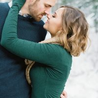 Sweet engagement picture - Mallory Renee Photography