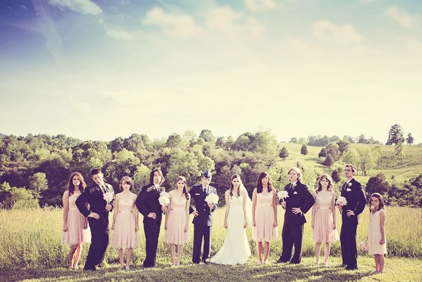 Vintage wedding party portrait - Skyryder Photography, LLC