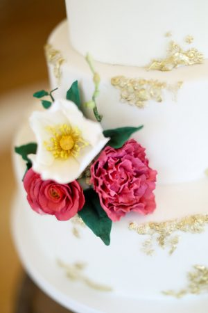 wedding cake details - Sarah Goodwin Photography