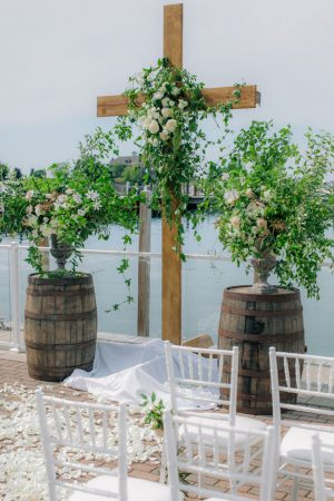 Wedding ceremony decorations - Clane Gessel Photography