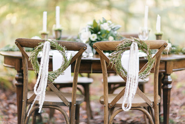 Wedding chair decorations - Jennifer Fujikawa Photography