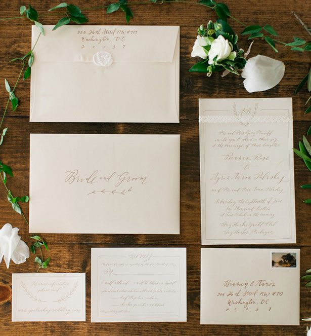 Wedding invitations - Clane Gessel Photography