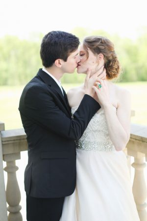 Wedding kiss - Sarah Goodwin Photography